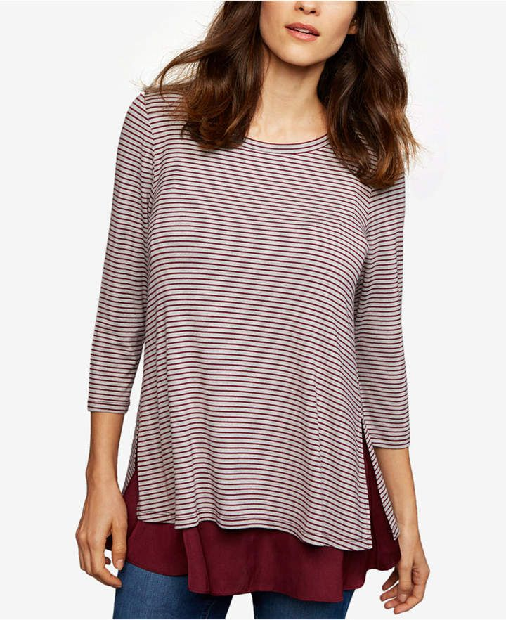 fe9b392177ebb A Pea In The Pod Layered-Look Nursing Top-- I like the layered look and its  lightweight