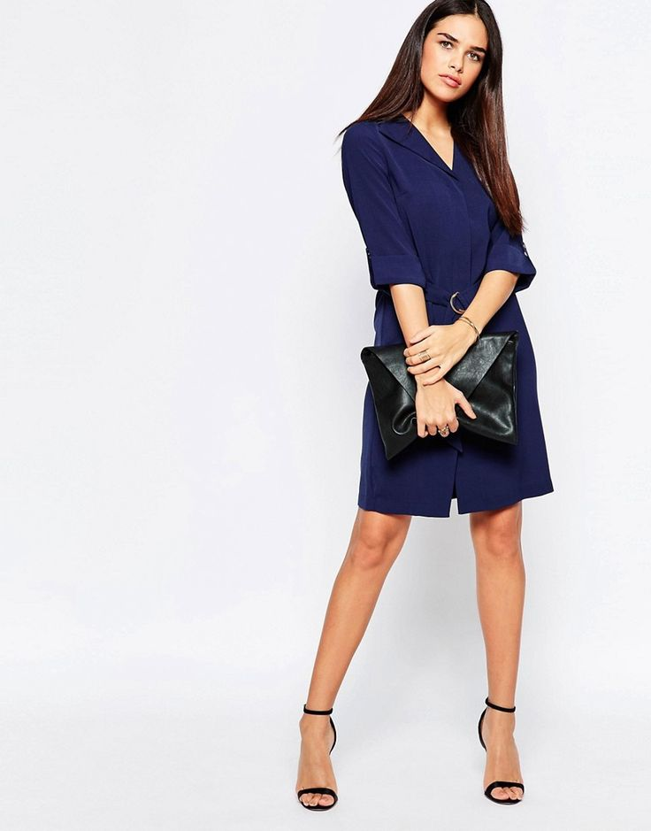 Image 4 of Warehouse Belted Shirt Dress