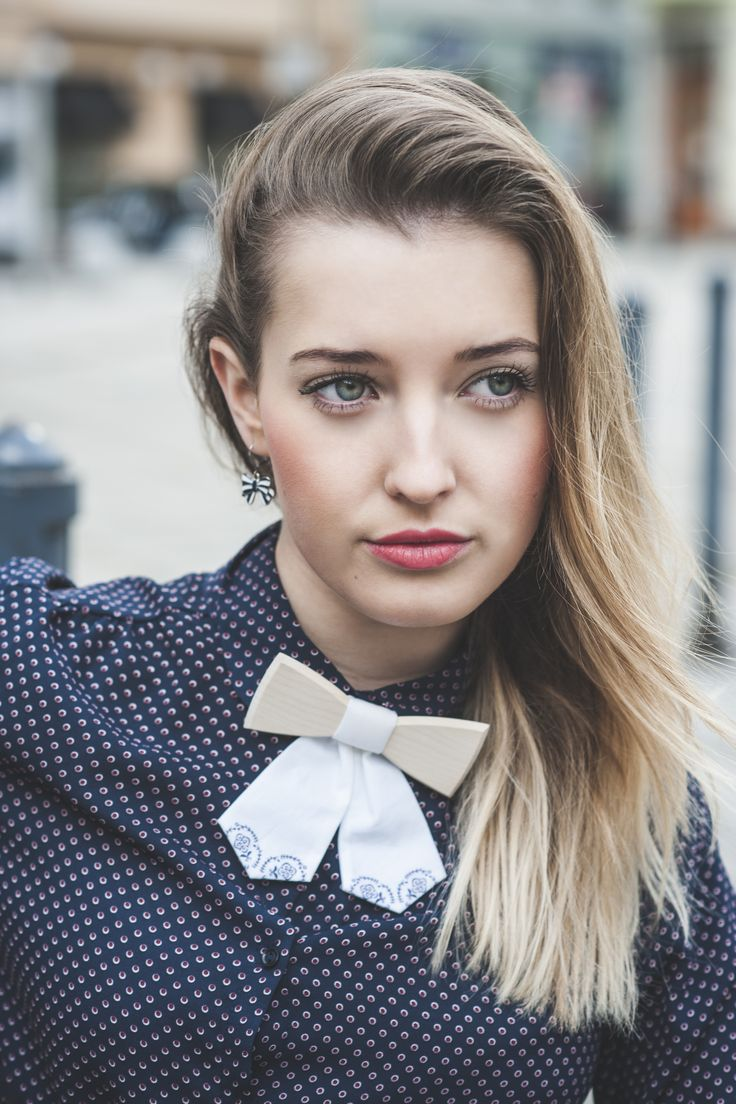 Viola women bow tie. Keep the girl outfit cheeky with an eco handmade accessory