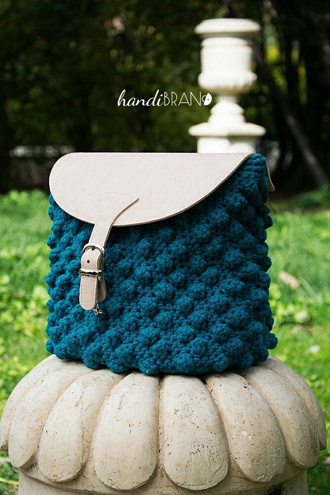 Back pack...σακίδιο πλάτης...crochet bag...handibrand.gr