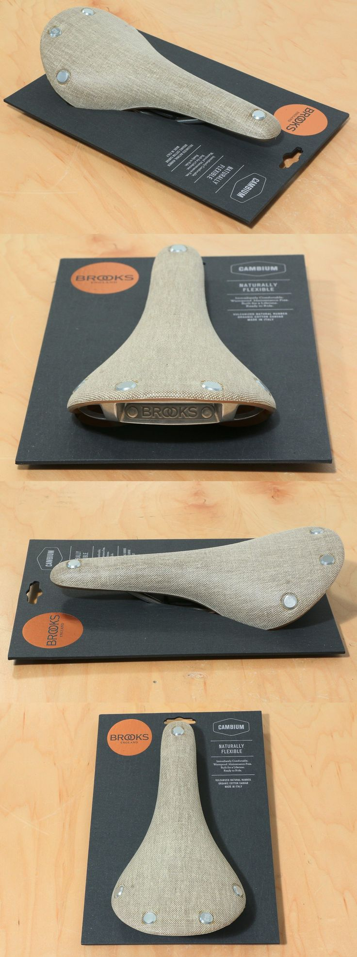 Saddles Seats 177822: Brooks Cambium C15 Saddle Natural Organic Cotton Steel Rail Road Men New In Box! -> BUY IT NOW ONLY: $100 on eBay!