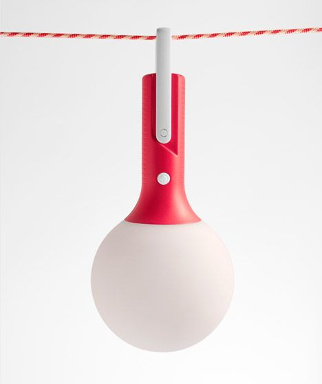 Products we like / Lamp / Outdoor / red / at Bolla outdoor lamp by Claudio Gatto