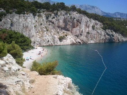 Plaża nudystów Makarska