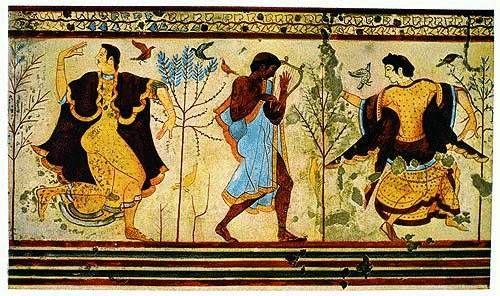 Etruscan women wearing tunics