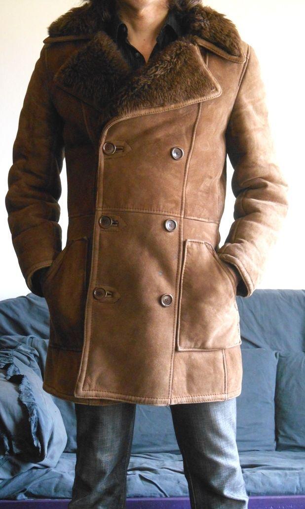 Manteau Mouton retourné daim homme vintage années 70 taille M in Abbigliamento e accessori, Uomo: abbigliamento, Cappotti e giacche | eBay