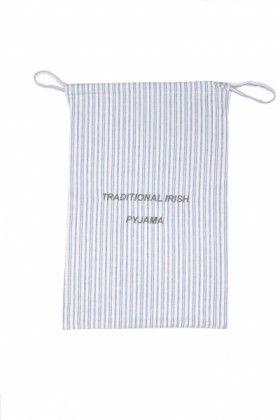 Blue/Ivory stripe Lee Valley Flannel Garment Bag