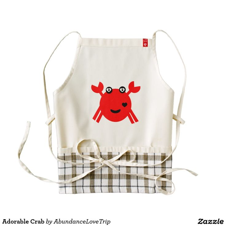 Adorable Crab Zazzle HEART Apron