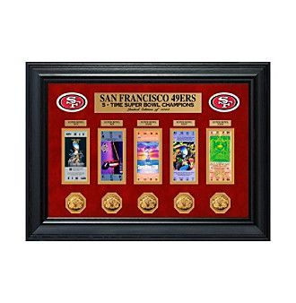 NFL San Francisco 49ers Super Bowl Framed Ticket and Game Coin Collection https://www.fanprint.com/licenses/san-francisco-49ers?ref=5750