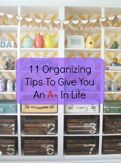 Simplify your life & space with a few awesome DIY organizing tips!