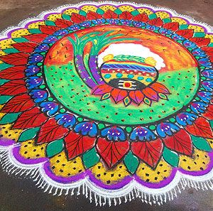 {Happy} Mattu Pongal Kolam Design Pictures | Happy Pongal 2017