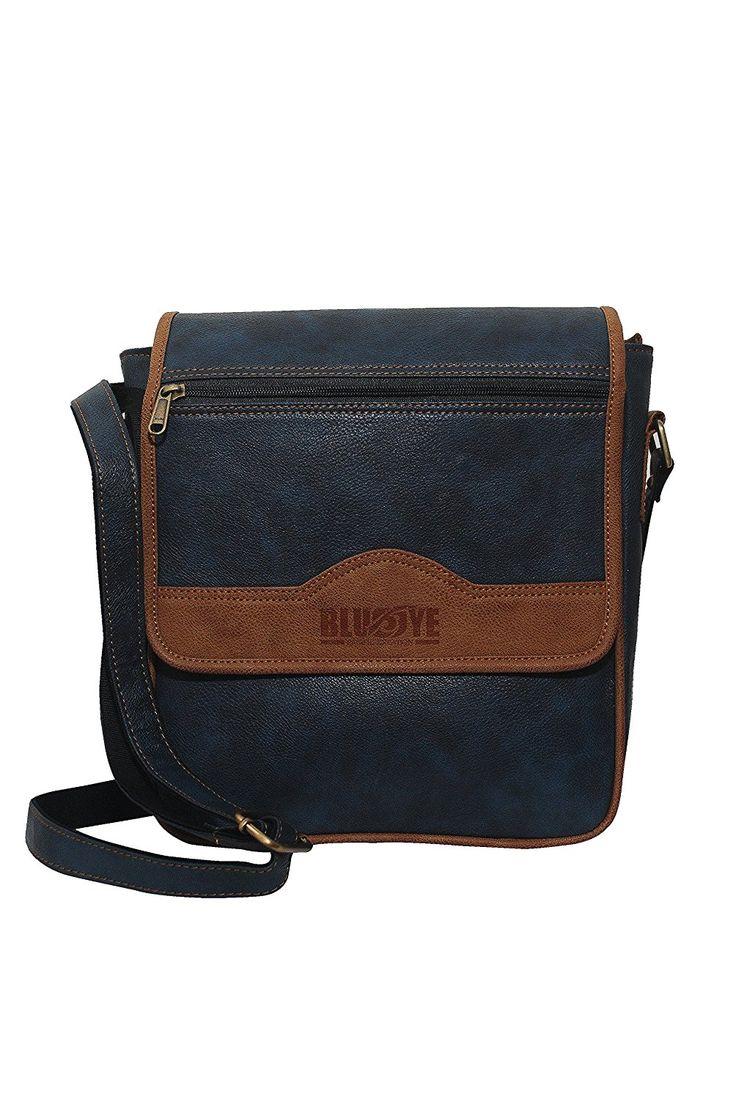 #BlueEye Messanger Bag #Sling Bag for Men - BlueEye #Index casual Sling bag - Blue & Brown