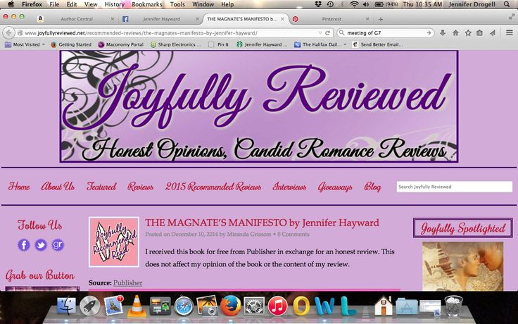 "Joyfully Reviewed Recommended Read ""The Magnate's Manifesto was an engrossing chemistry-filled scandalous read from beginning to end."""
