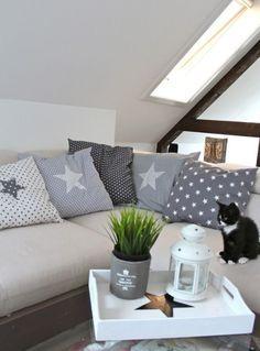 cojines para sofas gris