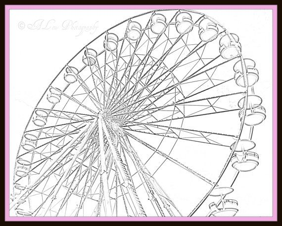 how to draw a ferris wheel wikihow