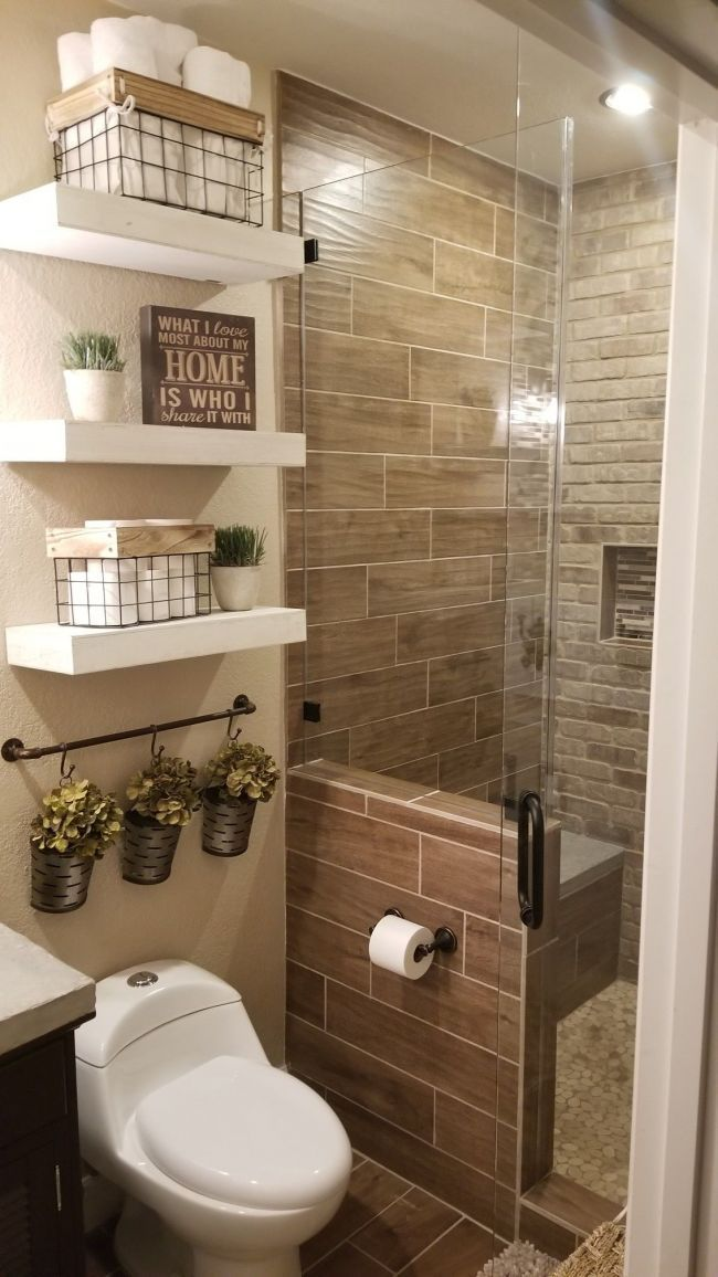 Life-changing bathroom remodel ideas for small spaces # ... on Small Space Small Bathroom Ideas  id=74622