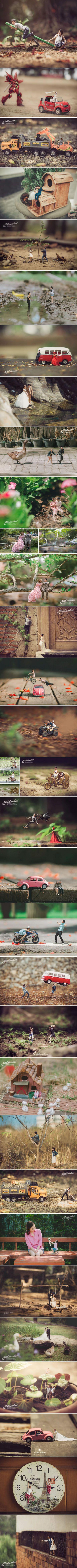 This wedding photographer turns couples into miniature people (Ekkachai Saelow)