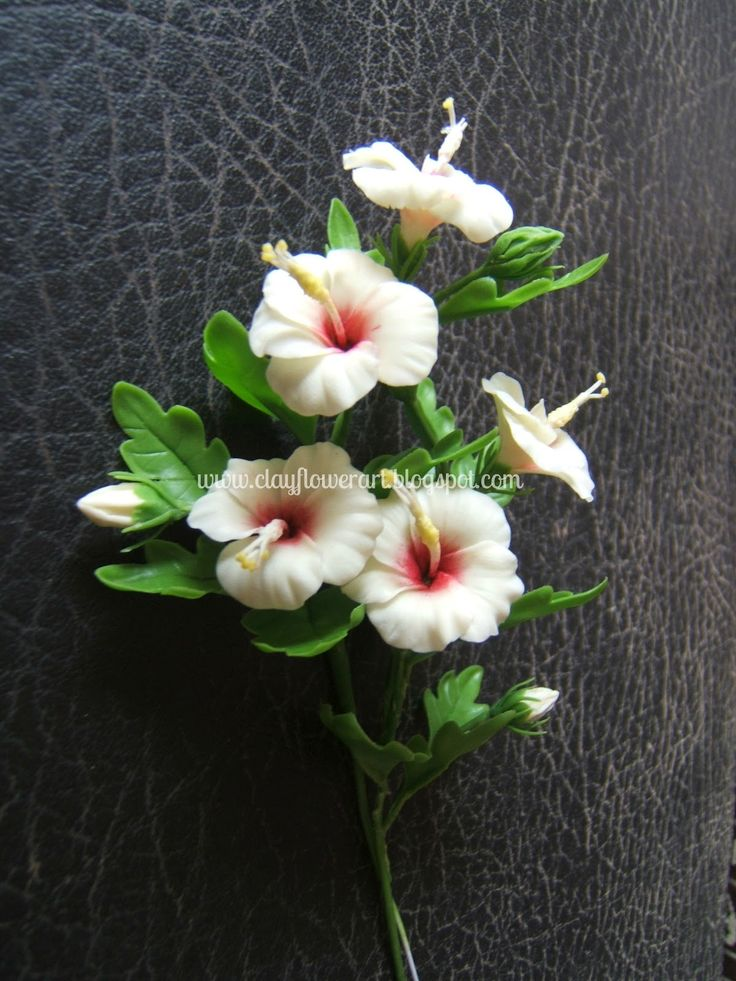 Hibiscus Miniature   Clay Flower Art