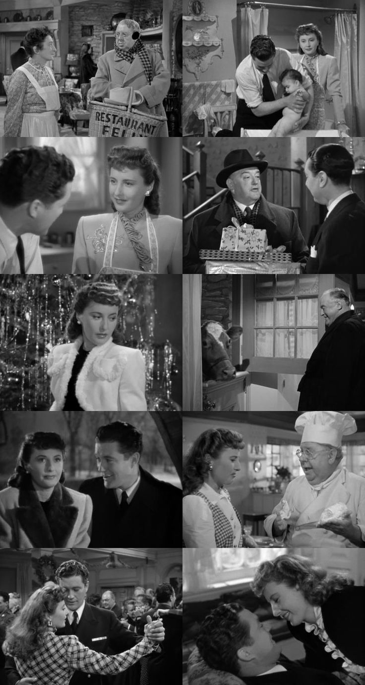 Christmas in Connecticut (1945), directed by Peter Godfrey.  A mild mannered romantic comedy with the typical Warner ease and gloss. There really isn't a Christmas message, but apparently a Christmas film is any one that takes place during the holidays.