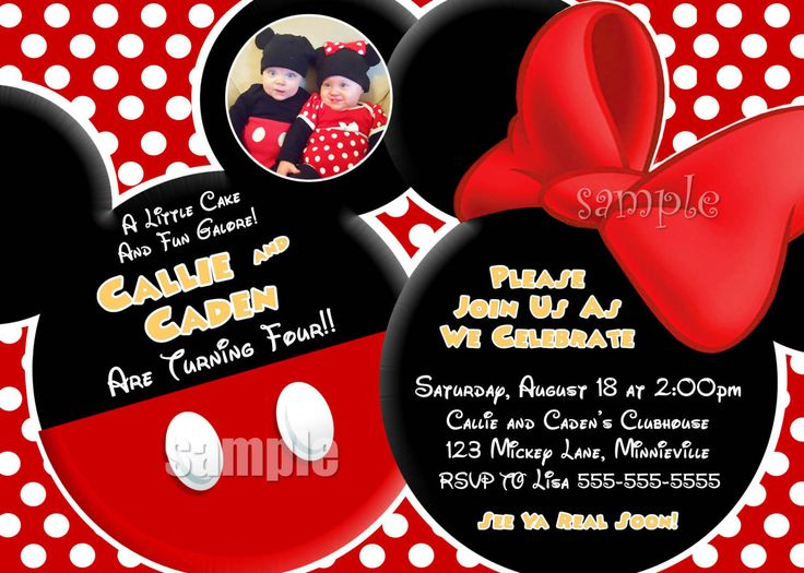 65 best images about Mickey Minnie party – Mickey and Minnie Party Invitations