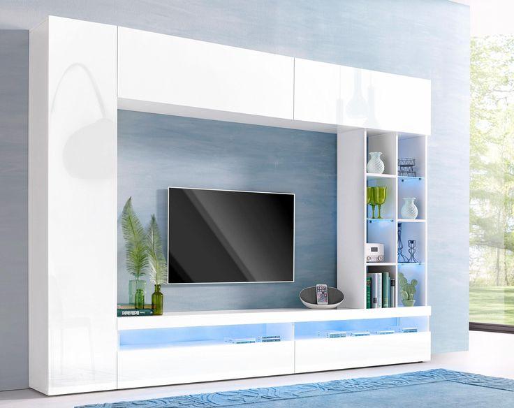 The 25+ best Tv wand hochglanz weiß ideas on Pinterest Tv wand - wohnzimmer weis hochglanz