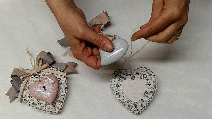 Tutorial bomboniera matrimonio con cuori. Sul nostro sito tutti gli oggetti utilizzati per la realizzazione