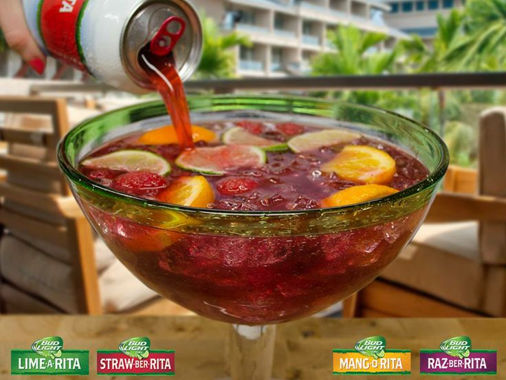 ultimate fruit punch bowl mix, all the bud light lime ritas!! yumm!!