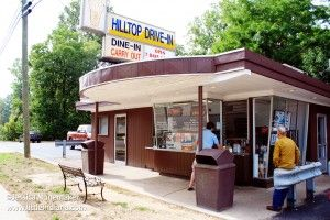 Hilltop #Drive-In Ice Cream Shop in Cambridge City, #Indiana