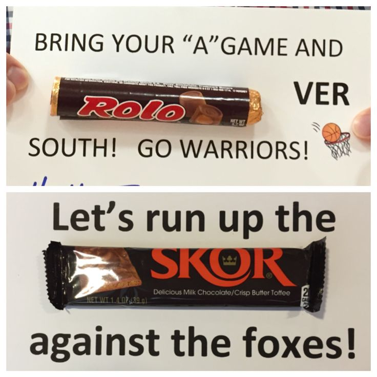 Basketball candy saying