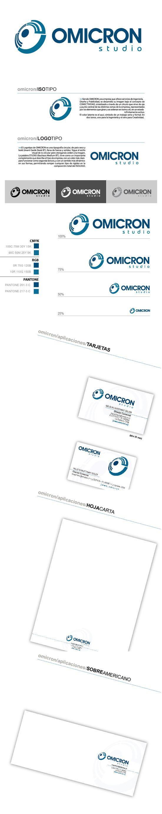 2007 / Omicron on Behance #graphic #design #branding #logotype #illustrator