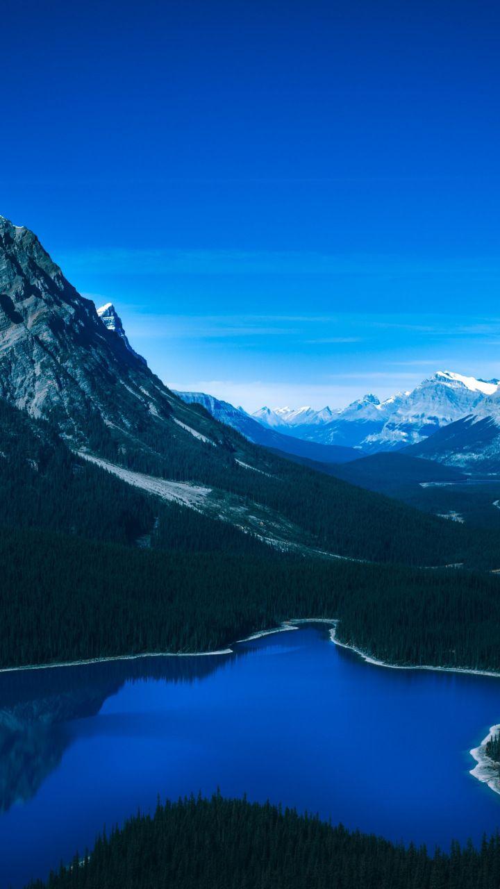 stars mountain valley lake tilt shift rock water reflection snow