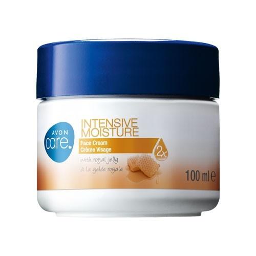 Crema facial de hidratación intensiva enriquecida con miel y vitamina E.