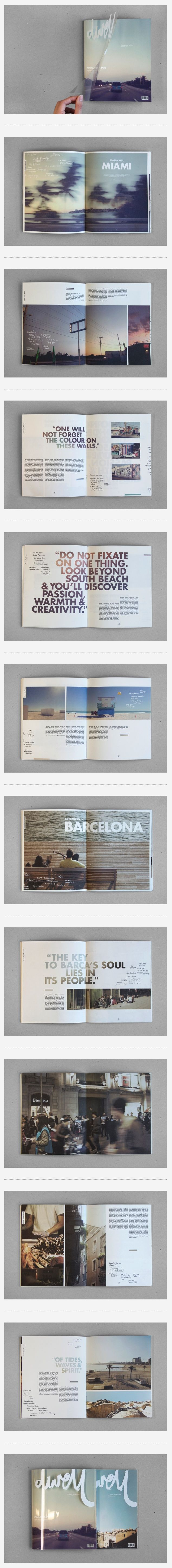 Magazine page layouts