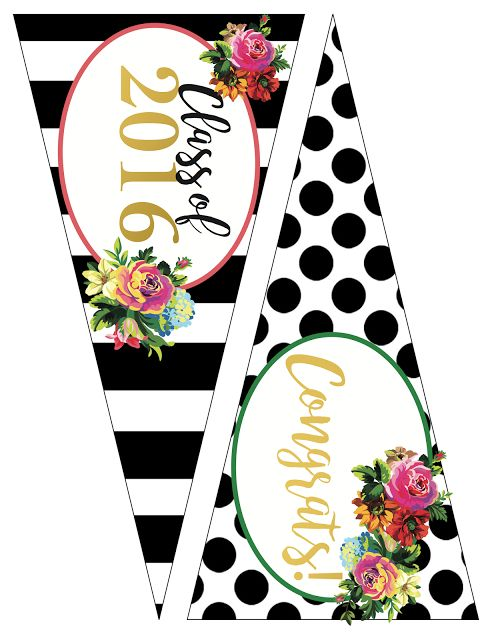 Less-Than-Perfect Life of Bliss: Free 2016 Graduation Party Printables for the Girly Girl in Kate Spade style!