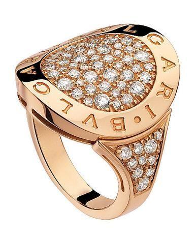 diamond rings bvlgari bulgari inspired 14kt pinkrose gold and pavdiamond ring