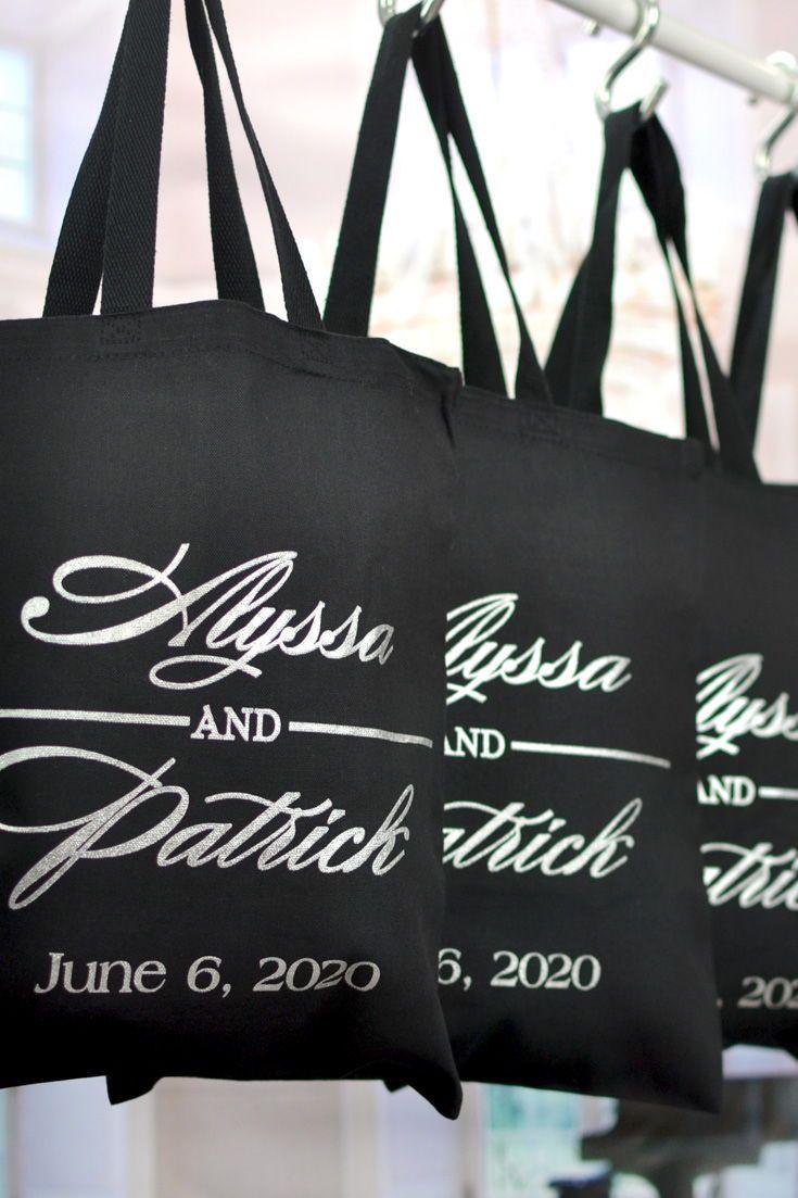 1527 Custom Canvas Bag Tote Bags Wedding Bags Custom Totes Rustic Wedding Wedding Welcome Bags Welcome Bags Personalized Tote Bags