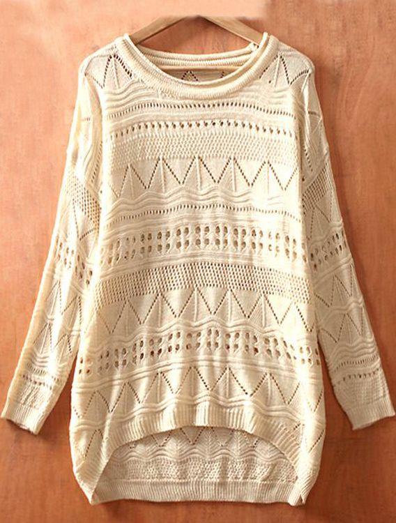 big comfy sweatshirt: Sweaters, Eyelet Embellished, Knit Jumpers, Geometric Eyelet, Big Sweater