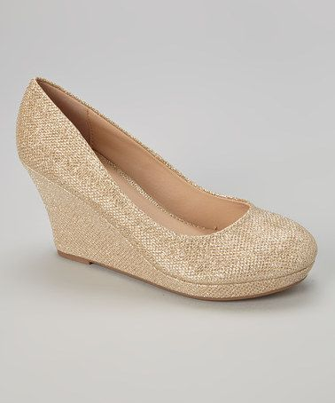 Look at this #zulilyfind! Gold Glitter Soft Wedge by Gemini #zulilyfinds