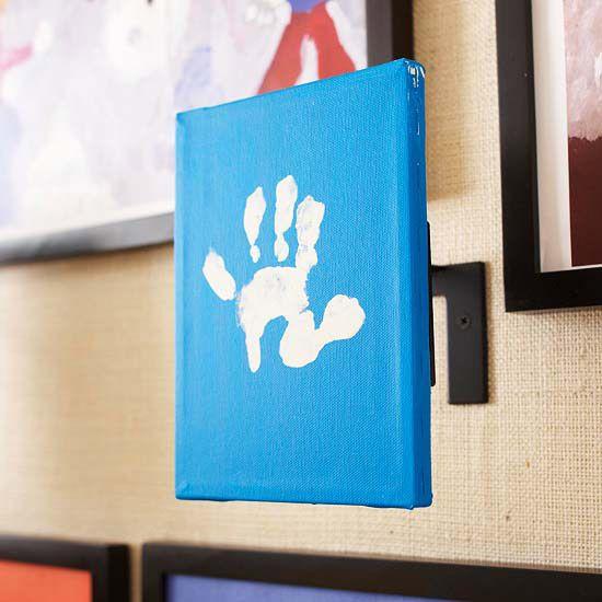 3-D Display: Hands Prints, Artworks Ideas, 3D Display, Handprint Art, Art Display, 3D Art, Diy Artwork, Kids Art, 3 D Display