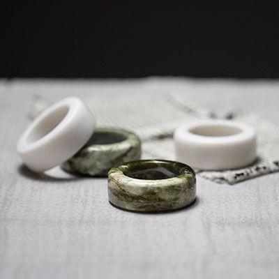 Connemara Marble Napkin Rings (set of 6)