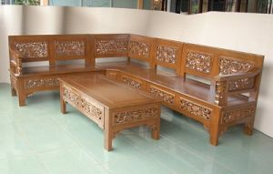 Kursi Sudut Mawar | Alfah Furniture