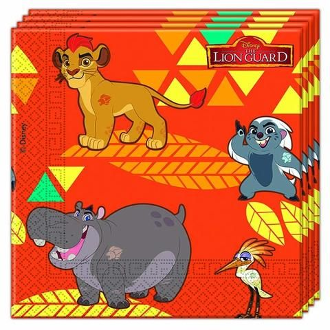 The Lion Guard Napkins - Pack Of 20