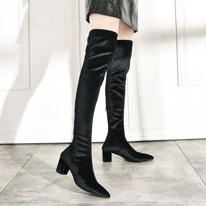ファッション レディースブーツ ロングブーツ ベルベットニーハイブーツ Cute Queen 楽天ブログ 2020 ファッション ソックス ブーツ レディース ブーツ