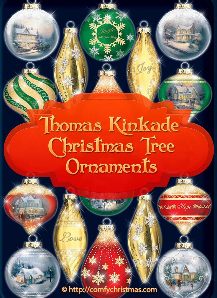 If You're Looking for beautiful collectible #ThomasKinkade #ChristmasTreeOrnaments? You'll find plenty of wonderfull #Christmas Tree Ornaments from the Thomas Kinkade Collection that would make amazing #gifts or add a touch of elegance to your Christmas Decor! http://comfychristmas.com/thomas-kinkade-christmas-tree-ornaments/