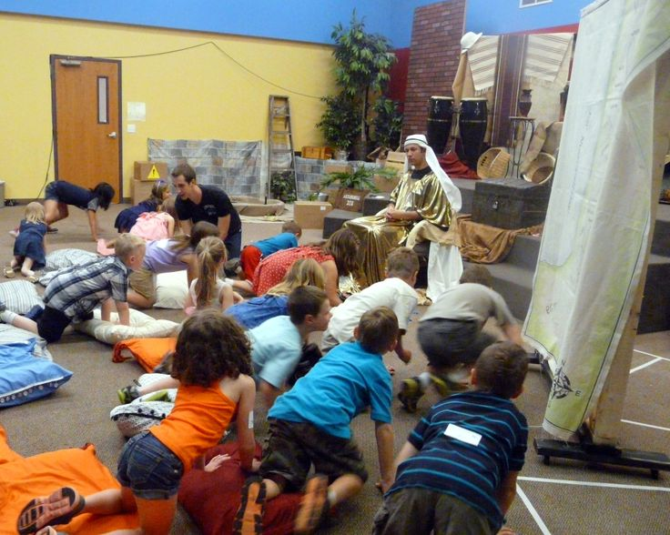 Tell the story of the 10 plagues while kids act out the plagues on Pharaoh.
