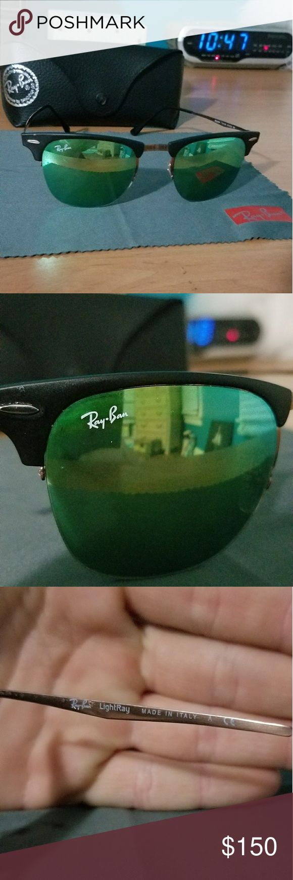 Ray Ban Light Ray Ray Ban Light Ray sunglasses. Impulse buy when I was vacationing in Cancun only worn once since upon my return to the u.s I bought a pair of Wayfarers because I like the weight more Ray-Ban Accessories Glasses