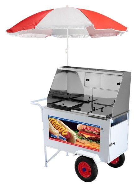 Carrinho de Cachorro Quente (Hot Dog) + Lanche Luxo com rodas Pneumaticas - XDLP008