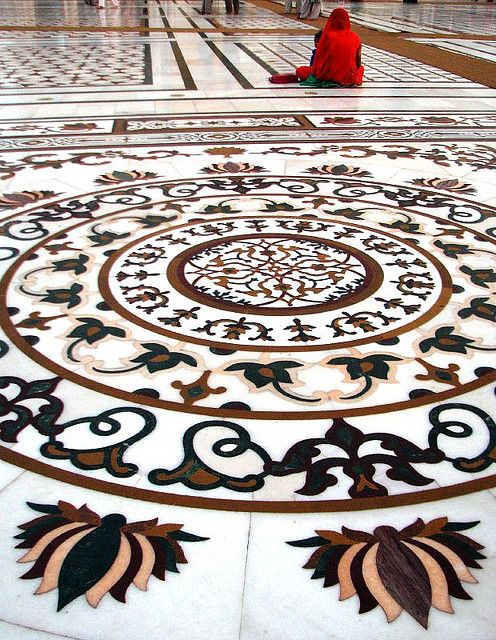 Intricate Marble Inlay  Golden Temple, Amritsar