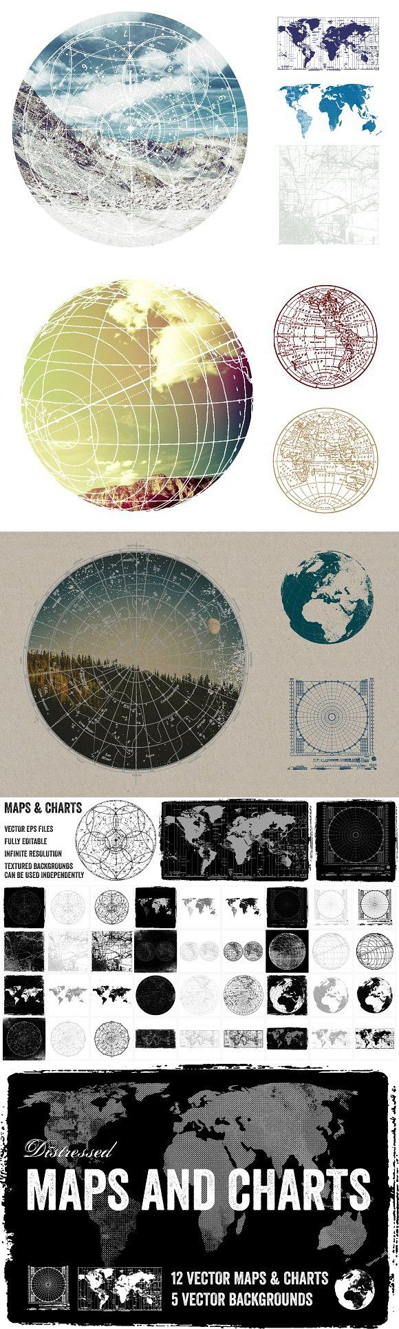 Distressed Vector Maps u0026 Charts 11 best
