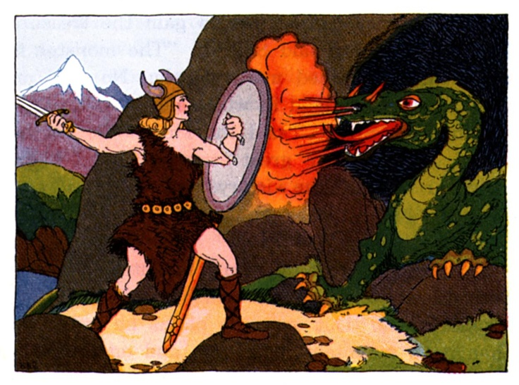What are the 3 major battles fought in Beowulf?