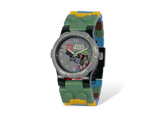 Lego 5000143LEGO Star Wars ? with Boba Fett Minifigure Watch Star Wars Clock parallel import goods @ niftywarehouse.com #NiftyWarehouse #Geek #Products #StarWars #Movies #Film
